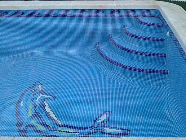 Colocacin de gresite en piscinas cheap gresite nuevo gresite con dibujo with colocacin de - Gresite para piscinas precios ...